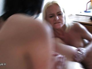 Three Dirty Mature Cunts Share One Hard Cock