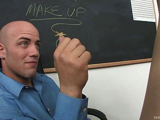 Slutty Student Lexi Belle Seduces Her Teacher