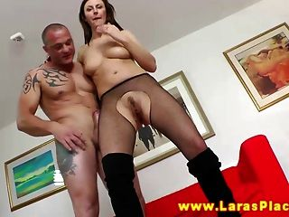 Mature In Stockings Gives Blowjob