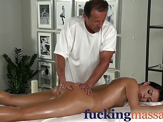 Massage Rooms Beautiful Young Girl Enjoys Orgasm