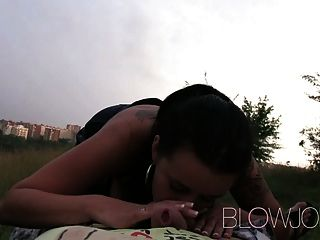 Blowjob Outdoor Cock Sucking In A Thunderstorm