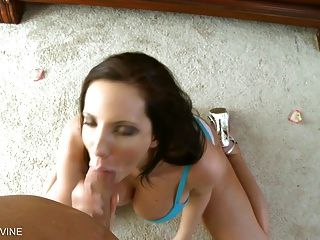 Gigantic Ass Babe Deep Throat And Gags On A Thick Hard Cock