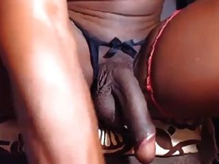 Black Shemale Nut With Anal Play