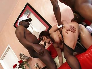 Nikki Hunter Gets Drilled In Interracial Threesome