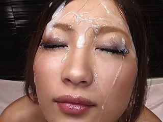 Innocent Looking Asian Bukkake