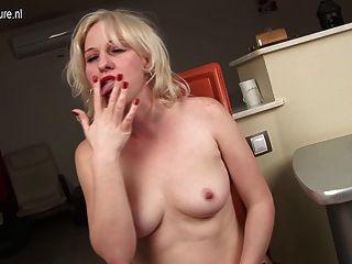 Blonde Milf Playing With Herself