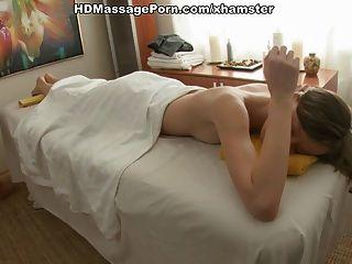 Slim Girl  Blowjob Massage With Cumshot