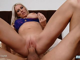 Blonde Milf Gets Creampie