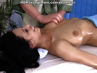 Naked Girl With Big Tits Kira Massaged And Diddled