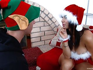 Sexy Xmas Babe Gets Pounded Hard