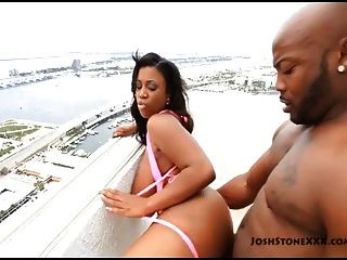 Ebony Big Tit Superstar Maserati Xxx Gets Fucked On Balcony