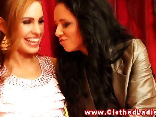 Rich Euro Ladies Upper Class Lesbian Threesome