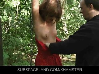 Nightmare Spanking In The Woods For Lora