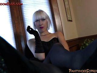 High Heel Torture With Blonde Femdom