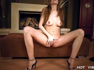 Slim Seductive Model Cums Hard