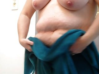 Bbw Wife Drying Her Hairy Pussy & Big Tits