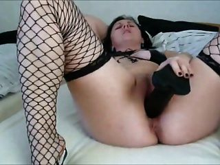 Wide Pussy Wants Big Black Dildo