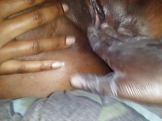 Ebony Pussy Training: Fisting