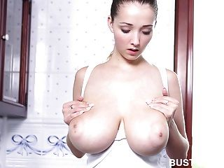 Busty Buffy Takes Hot Milky Bath With Foam