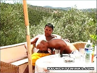Two Horny Twinks Fucking On The Beach