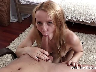 Bedroom Fun For Hardcore Blonde Teen Who Loves Blowjobs