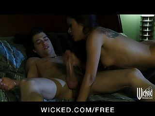 Wicked - Horny Asian Gf Kaylani Lei Has Make-up Sex With Bf