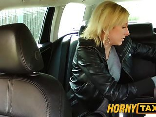 Hornytaxi Blonde Gets Tricked Into Taxi Blowjob