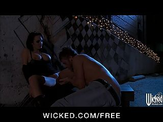 Wicked - Sex Starved Brunette Alektra Blue Has Rough-sex