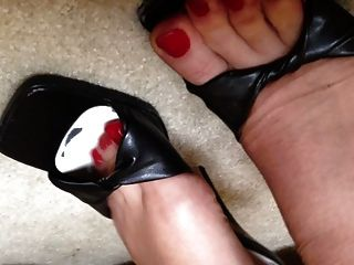 My Feet In Stockings And Heels