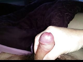 Wife Wanking A Small Load From My Small Hairy Uncut Cock