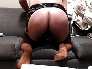 Rear Veiw, Copper Rht Stockings And Cum...mmm
