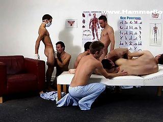 Hammerboys.tv Present Raw Gang Bang Therapy