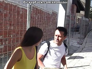 Spaniard Pickup At The Bus Stop And Fucked Her