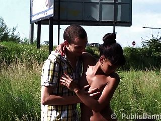 Beautiful Black Girl Public Street Gangbang Sex Part 1