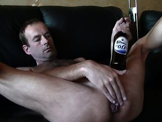 Bottle Of Beer In Ass