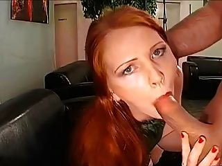 redhead blowjob cum Two redhead babes fuck and suck lucky big cock | Any Porn.