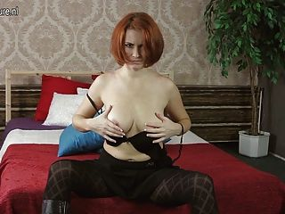 Posh Red Cougar Needs A Good Fuck