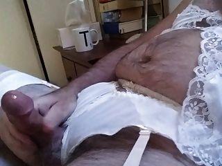 Cd Crossdresser Panty And Lingerie Wank In Bed