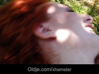 Redhead Student Babe Gets Laid With Her Old Teacher