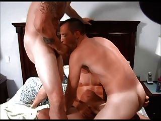 Three Frat Stepbrothers Cum On Each Other