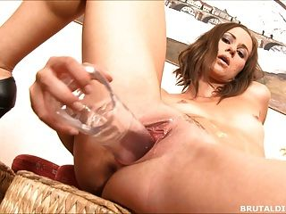 See Through Huge Dildo Fucking