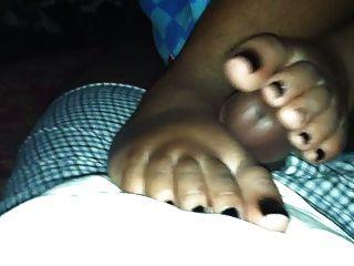 Black Toes Footjob