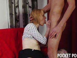 Green Eyed Blonde Deepthroating Big Cock
