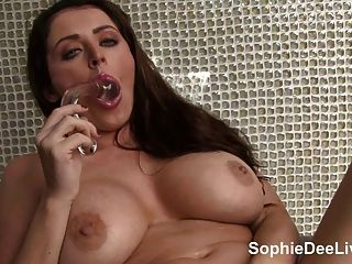 Big Tit Cock Teaser Sophie Dee Plays With Her Pussy!
