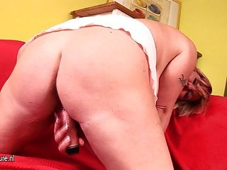 Busty Mature Mother Playing With A Dildo