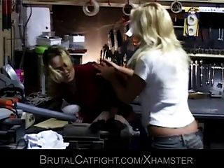 Two Girls Are Fighting Like Crazy- One Gets Fucked