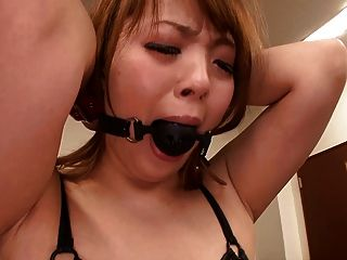 Very Busty Asian Playing With A Guy