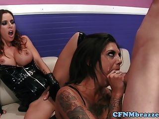 Bonnie Rotten And Gia Dimarco Cfnm Fuckfest