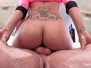 Sexy Capri Gets A Deep Dick And A Load On Her Face