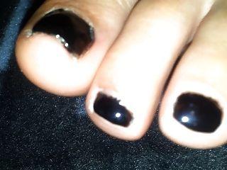 My Girlfriends Sweet Feet With Black Polish